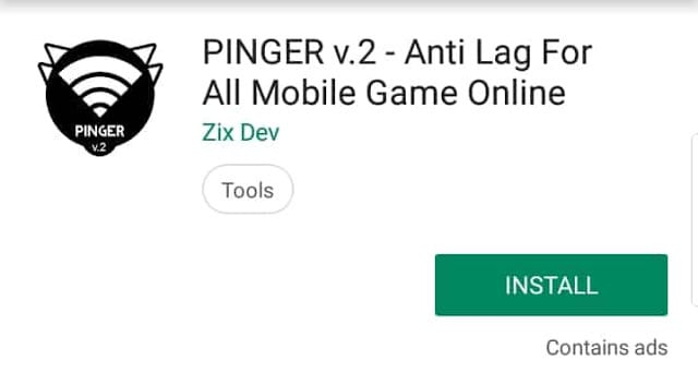 Pinger v2.0 to reduce ping problem in pubg mobile