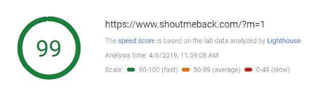 ShoutMeBack Website Speed Report