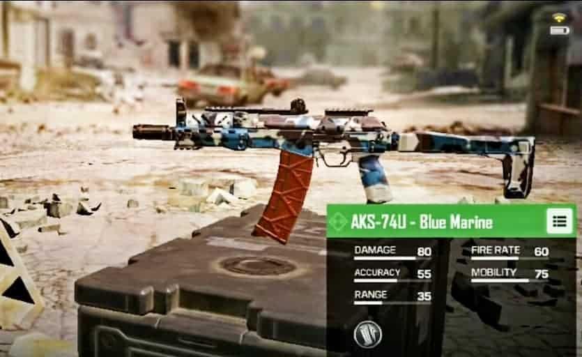 AKS-74U Submachine Gun in CoD Mobile