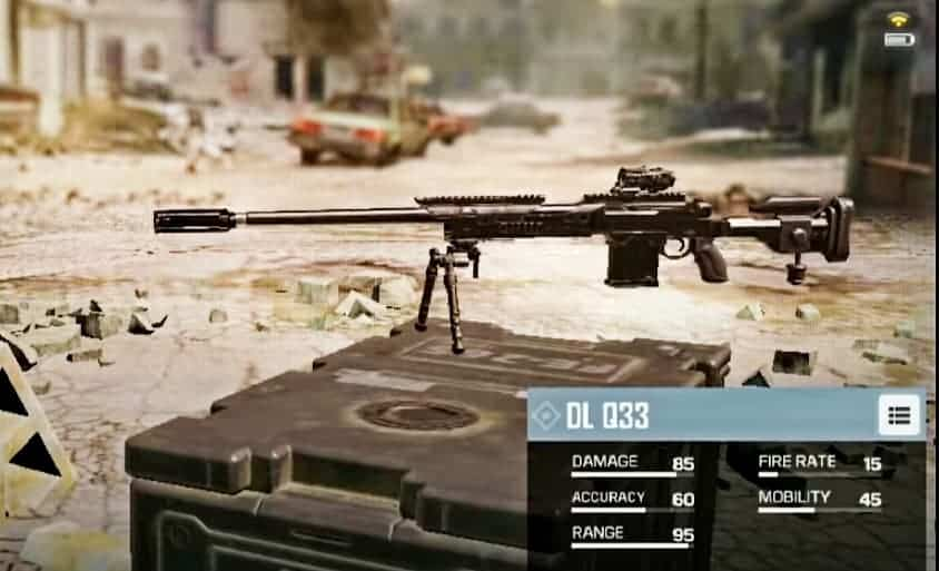 DL-Q33 Sniper Rifle in CoD mobile