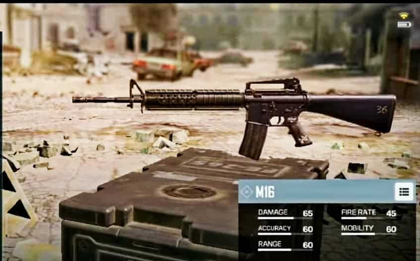 M16 Assault Rifle in CoD mobile