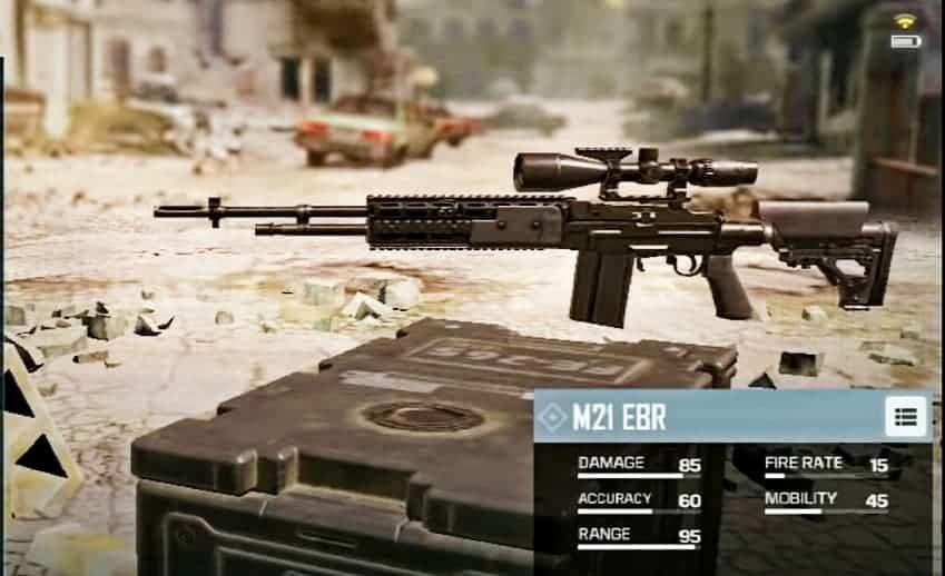 M21 Ebr Sniper Rifle in CoD mobile