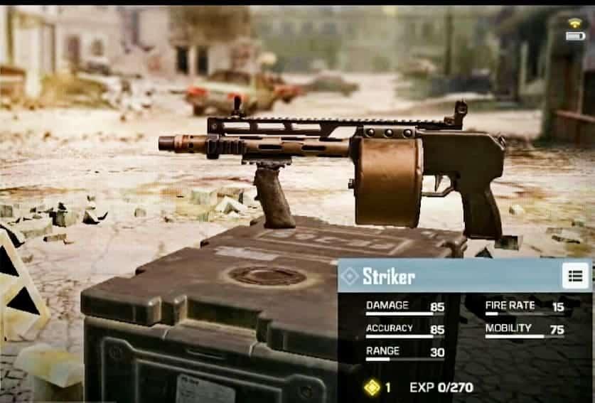 Striker Shotgun in CoD mobile