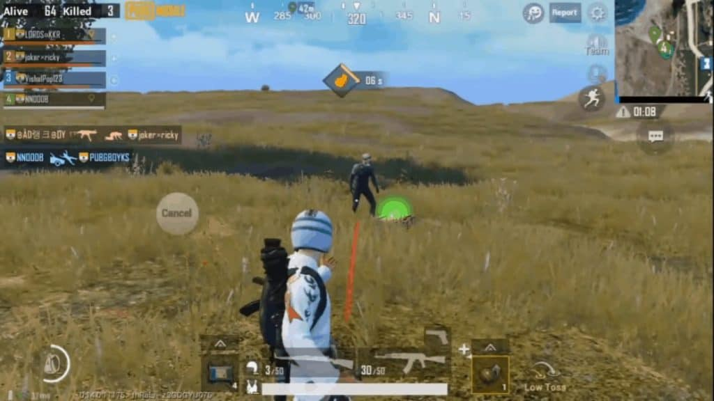 Kill Offline Players with SMG or Shotgun or Throwable or Vehicle