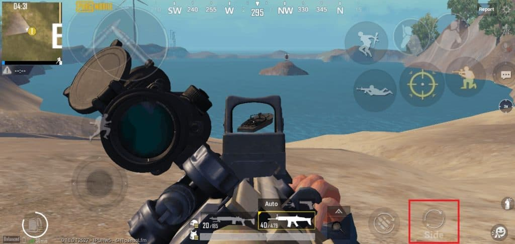 Switch From Primary Scope to Canted Sight