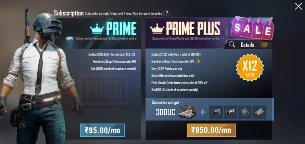 Buy Prime Plus to Get UC in Cheap Price