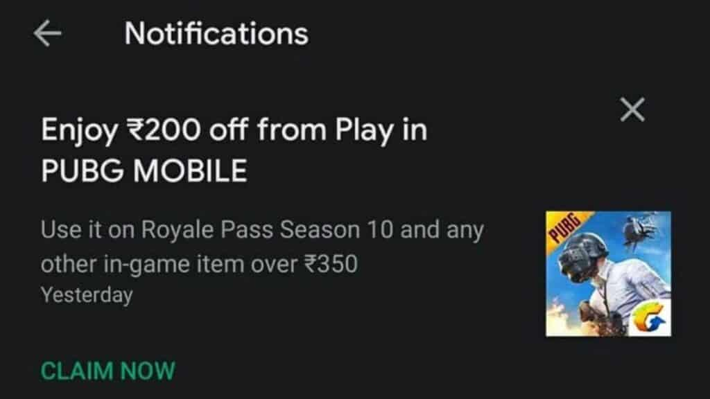 Get Free Discount Coupons for PUBG mobile