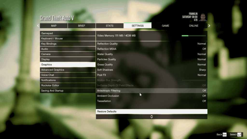 Extra Additional Graphics Settings for GTA 5