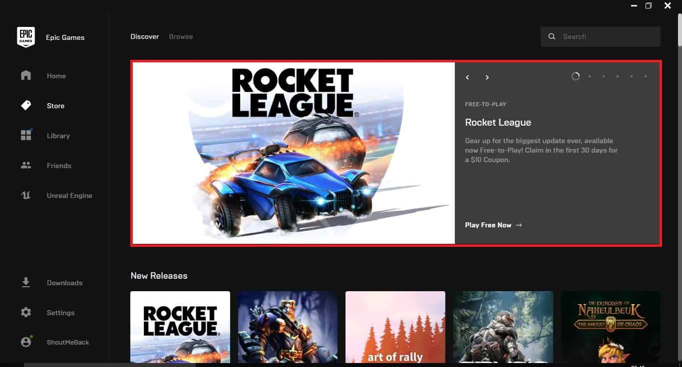 Get Rocket League for Free from Epic Games