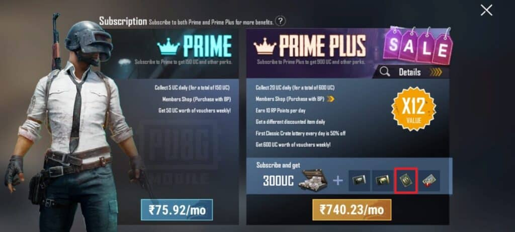 Buy Prime Plus to collect free rename card in PUBG mobile