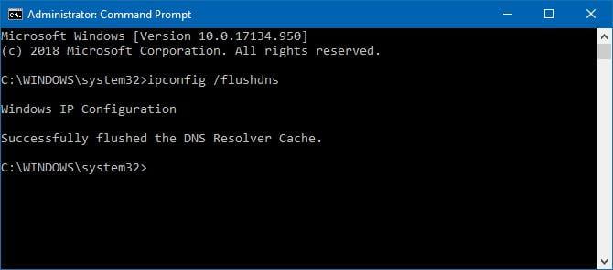 Run ipconfig /flushdns to clear DNS cache