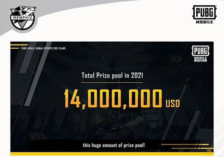 PUBG Mobile Esports 2021 to have a total of $14 Million USD Prize Pool